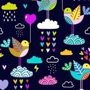 lovebirds - navy