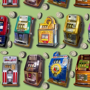 Dean's Slot Machines on Green