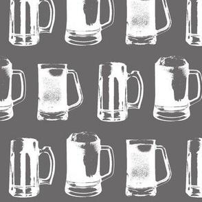 Beer Mugs on Charcoal // Large