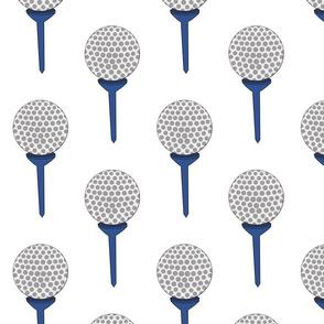 golf ball on tee navy
