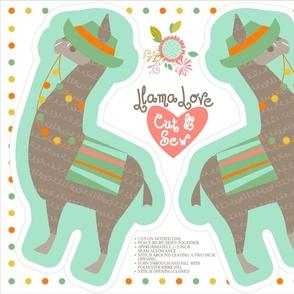 Llama soft toys (4 on a yard)