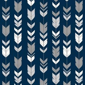 Arrow Feather-navy/greys