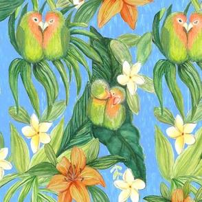 Palm tropical Lovebirds Garden ♥