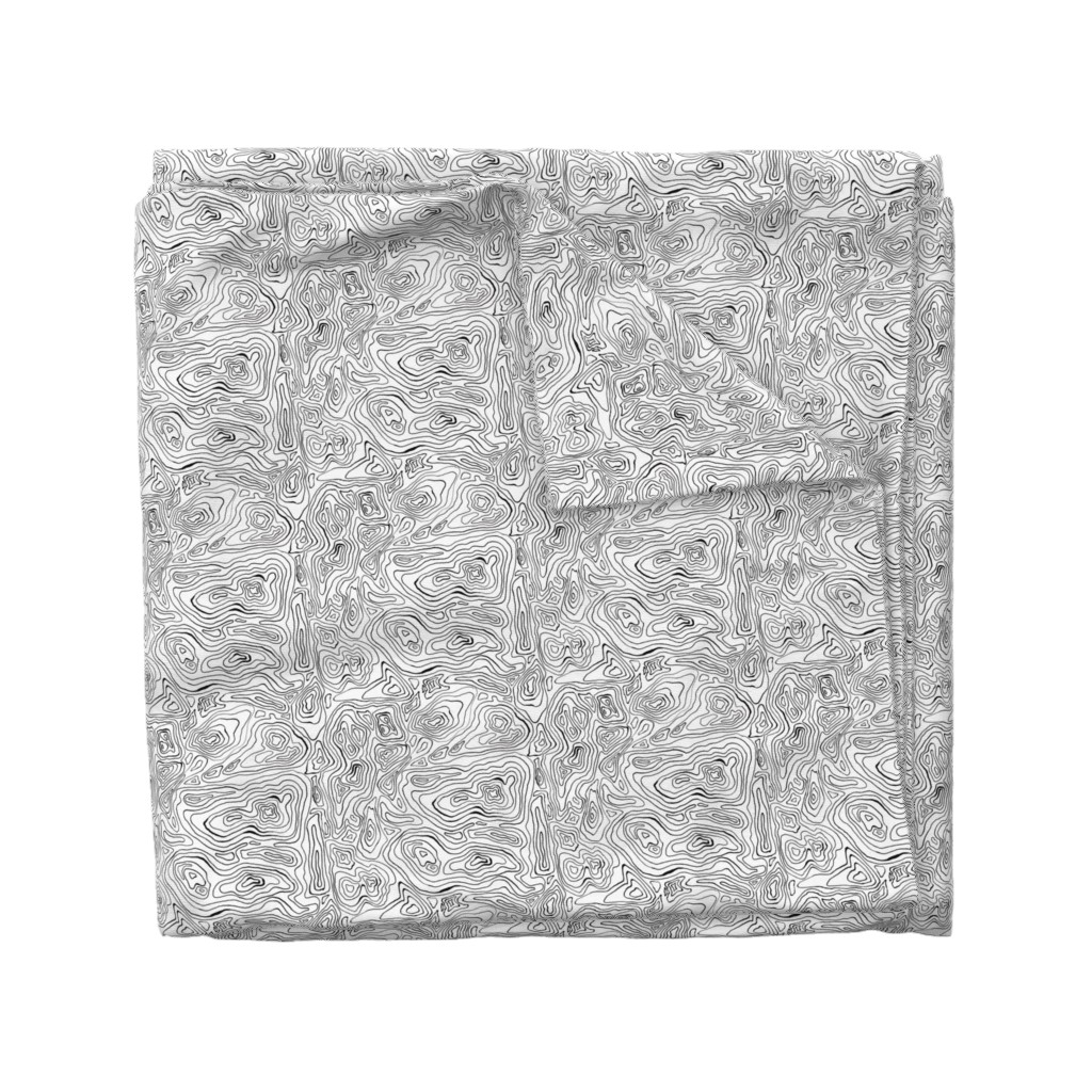 Wyandotte Duvet Cover featuring Mapping Contours_ by woodledoo