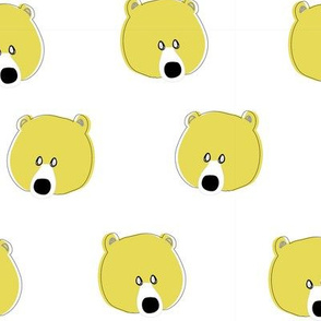 Happy Days Little Bear face yellow