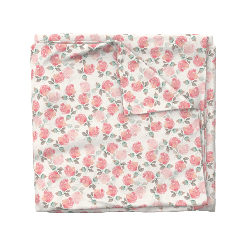 Wyandotte Duvet Cover featuring Pattern_with_beautiful_roses  by gribanessa