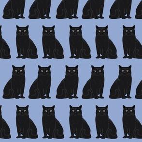 cat black cat pastel blue purple cute cats cat lady fabric cat lady design sweet kitten