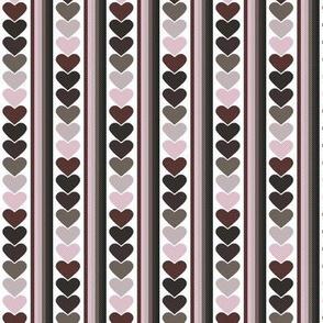 Polka Dot Heart Stripes