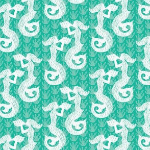 16-02u Mermaid Mint Nautical
