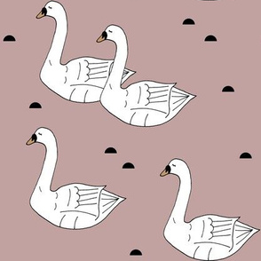 Swans Dusty Pink