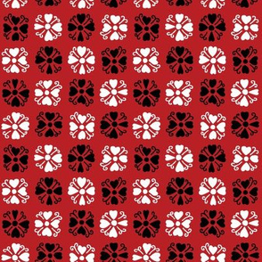 Red Heart Quatrefoil