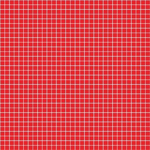 Red Pinstripe Grid