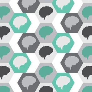 Brain   Gray Turquoise