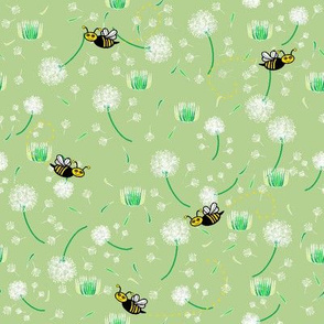 Smiling Bees With Dandelions