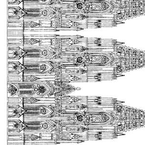 Gothic Cathedral Border (White/Black)