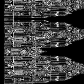 Gothic Cathedral Border (Black/White)