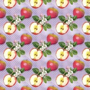 Watercolor Apples and  Polka Dots