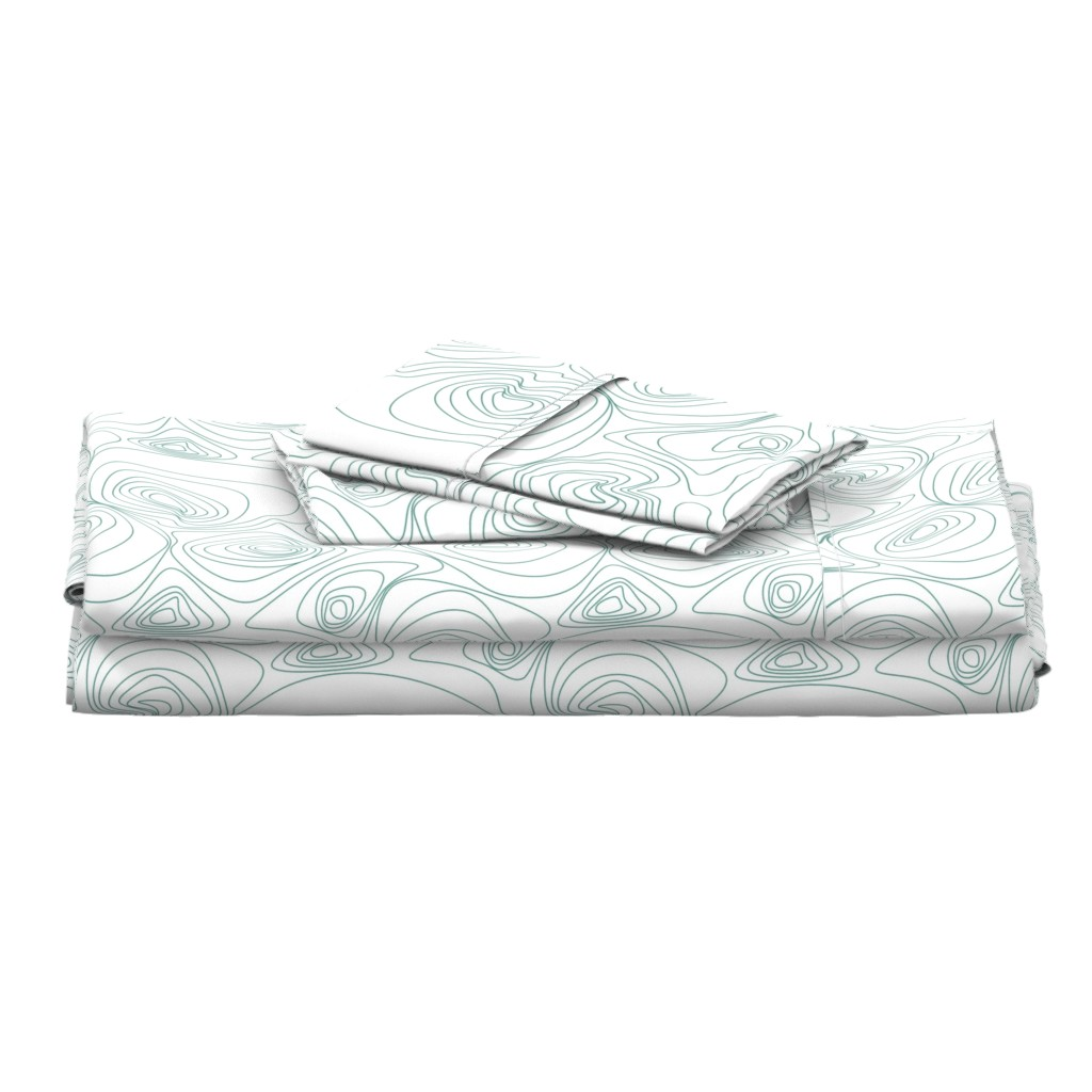 Langshan Full Bed Set featuring Topographical Map by patchinista