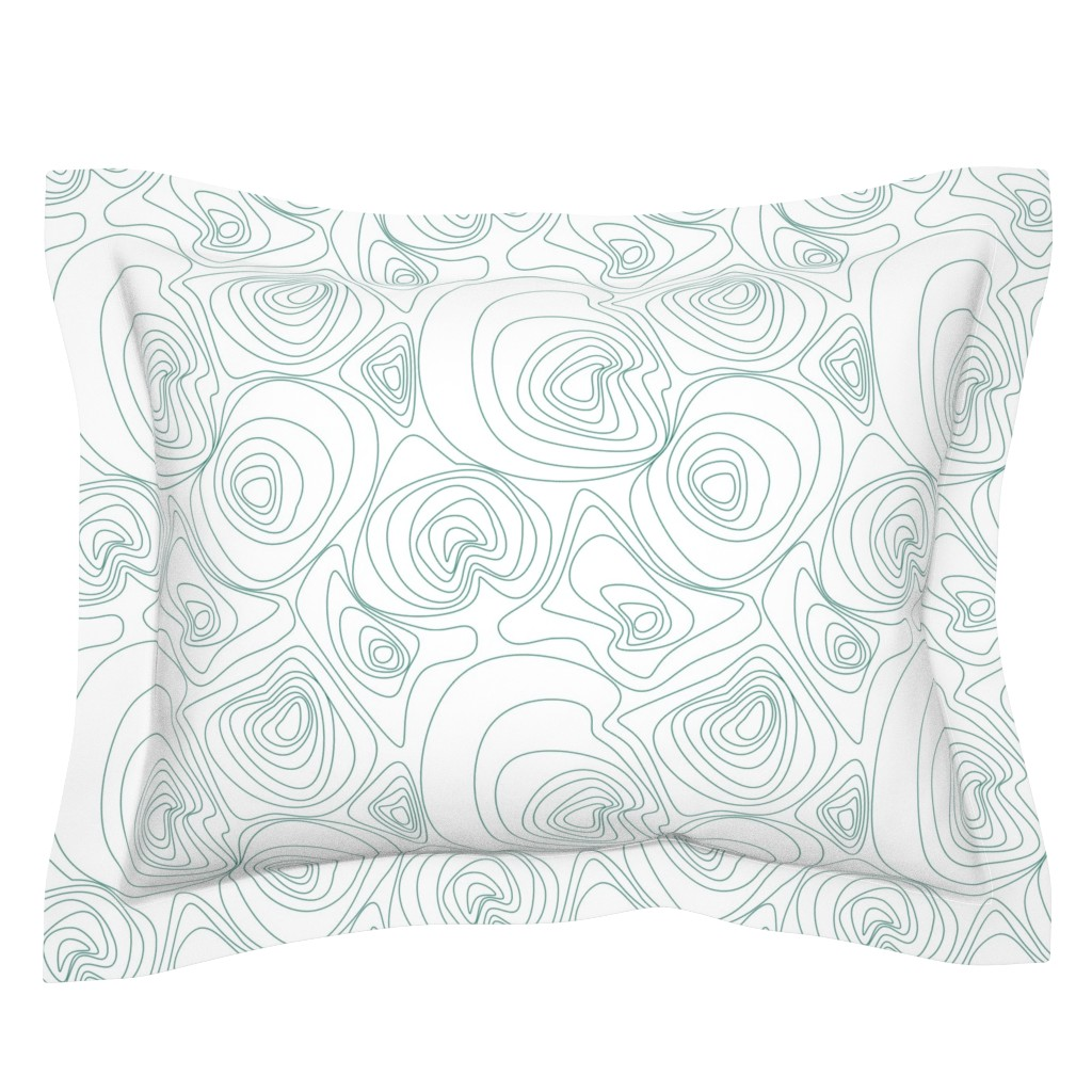 Sebright Pillow Sham featuring Topographical Map by patchinista