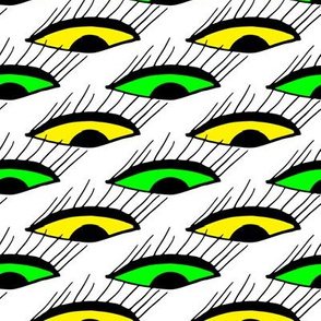 Halloween Eyes in Green and Yellow