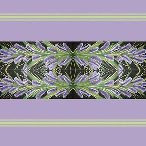 Lilac Powder Puff With Border