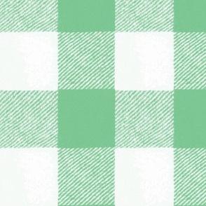 Buffalo Check // Light Green