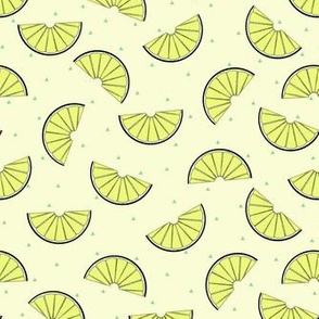 lemon wedge in yellow