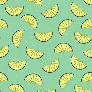 lemon wedge green