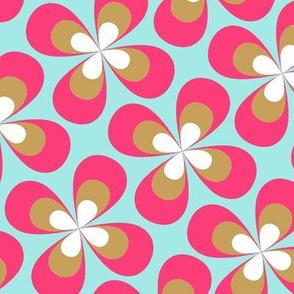 Pinky retro butterflyflowers