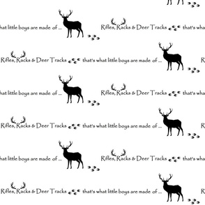 Rifles, Racks & Deer Tracks // crib sheet