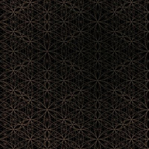 Flower of Life pattern black & gold