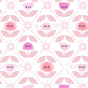 Mod Flowers - Pink (small)
