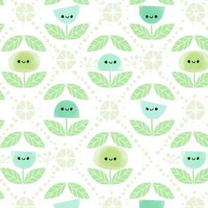 Mod Flowers - Green (Small)