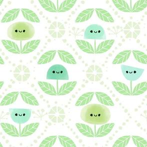 Mod Flowers - Green (BIG)
