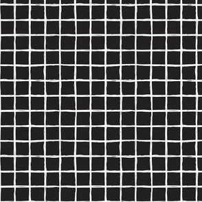 Abstract geometric lines black and white checkered stripe trend pattern grid XS