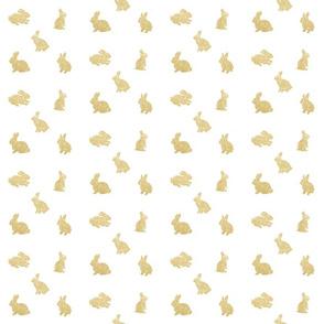 Gold glitter easter bunnies