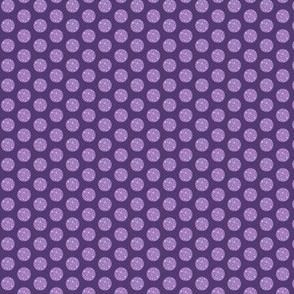 Purple polka dot // lilac and purple spot