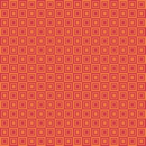 Spring squares within squares - small - red