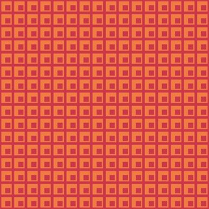 Spring grid & squares - small - red