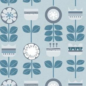 Mod Scandi Flowers on Slate