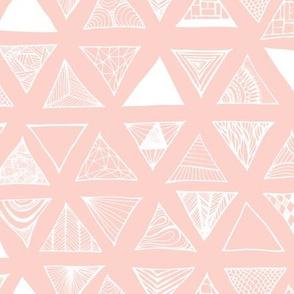 Triangle Doodles Pinkish