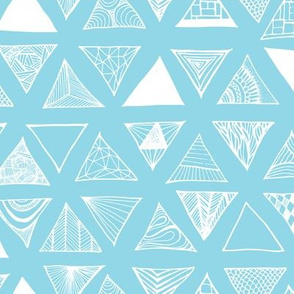 Triangle Doodles Bluey