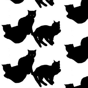 Black Cats Silhouette