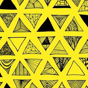 Triangle Doodles Sunshine