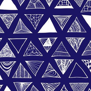 Triangle Doodles Navy