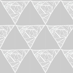 Triangle Doodles Crosshatch