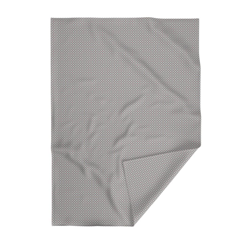 Lakenvelder Throw Blanket featuring Peach Polka dot by magentarosedesigns