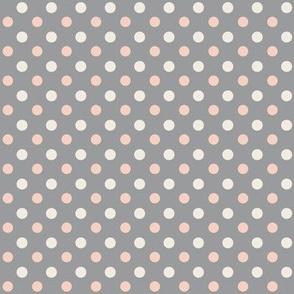 Peach Polka dot