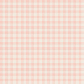 peachy pink and cream gingham