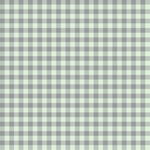 cucumber and grey gingham